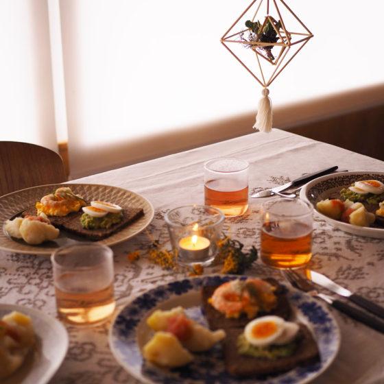 ヒンメリ作りとアンティーク食器で北欧ランチの会