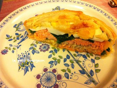 """IMG_5214<br />パイの鮭など"""" border=""""0″ width=""""400″ height=""""299″ /></a><br />鮭とほうれん草のパイ。それにご飯も入っています。<br />パイの中にご飯を入れるというのは、<br />フィンランドでカレリアパイがおなじみですね。<br />食べごたえがあって、私の好きなゆで卵も効いていて<br />気持ちはもうフィンランドでした。<br />作り方を教えてもらったので、こんど家でも試してみたいと思います!<br />そして出会いました。<br /><a href="""